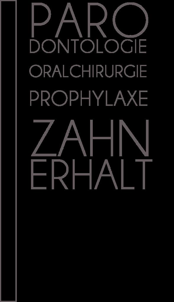 Parodontologie, Oralchirurgie, Prophylaxe, Zahnersatz
